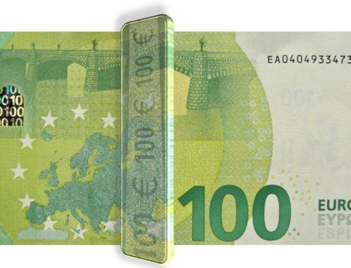 Iriserende strook-100 Euro-2eGen